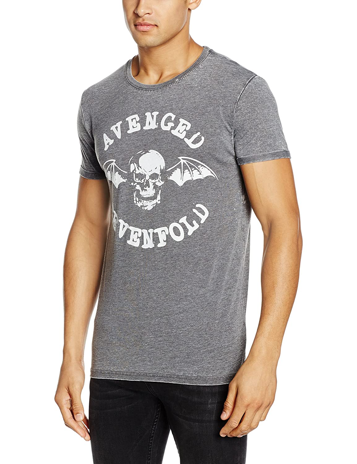 Rockoff Trade Herren T-Shirt Deathbat Burnout