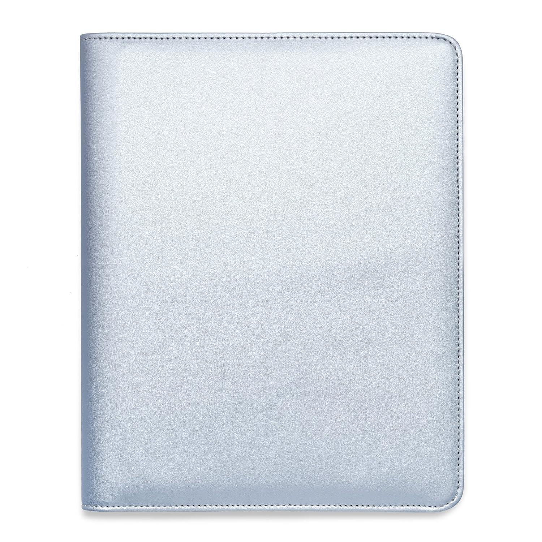 Organised Mum A5 Essentials Faux-Leather Diary Cover - Diario in formato A5, in pelle sintetica, con chiusura a zip Silver Shimmer Boxclever Press