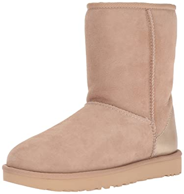UGG Women's Classic Short II Metallic Winter Boot,Driftwood,5 ...