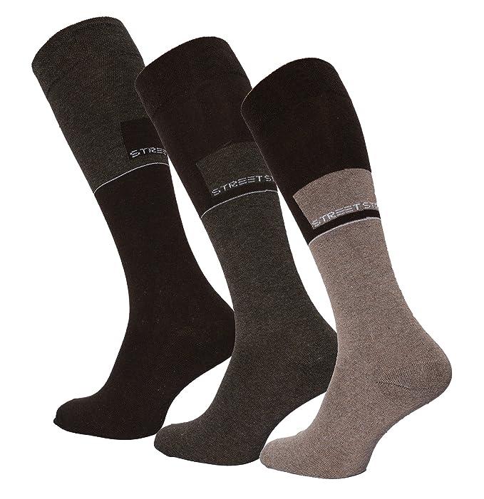 3 pares Calcetines altos para hombre Sueña, estampado, Comfort cintura, tallas 39 - 42 o 43 - 46: Amazon.es: Ropa y accesorios
