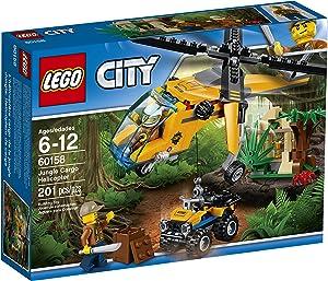 LEGO City Jungle Explorers Jungle Cargo Helicopter 60158 Building Kit (201 Piece)