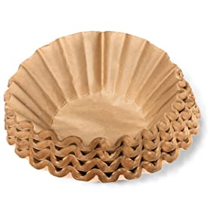 "Coffee Filters - Natural Unbleached Brown Biodegradable - Large Basket - 9.75"" Flattened Diameter - 4.5"" Diameter Base - by California Containers (200 Count)"