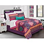 Safdie & Co. Aiyana Collection 2 Piece Quilt and Sham Set, Twin