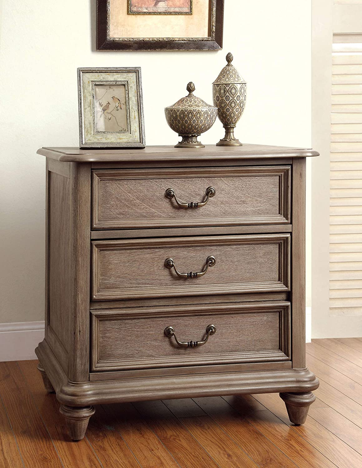 William's Home Furnishing Belgrade I Night Stand, Rustic Natural Tone