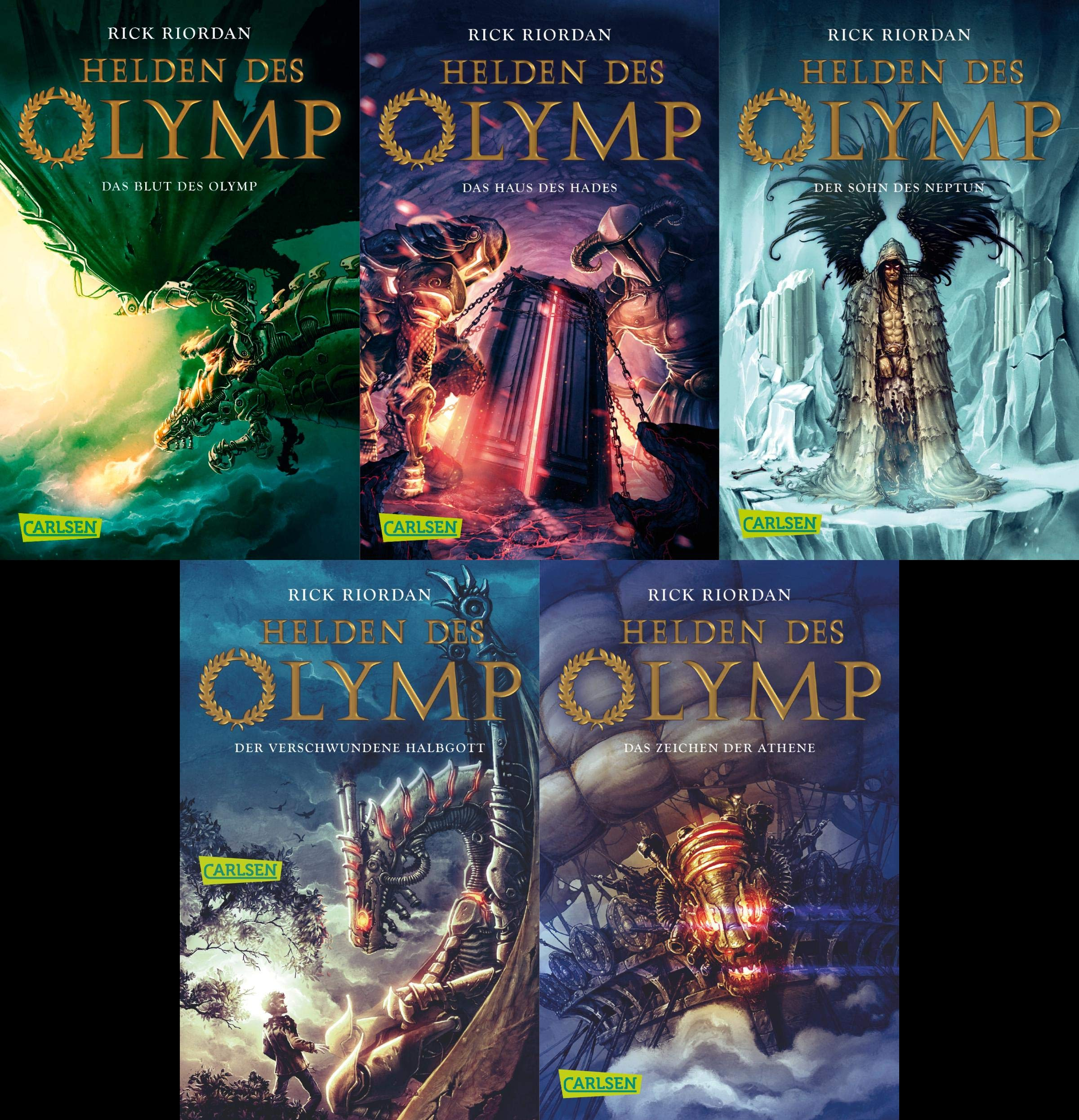 By Rick Riordan Percy Jackson and the Olympians 5 Book Paperback Boxed Set  New Covers W/Poster Percy Jackson & th Box Pap/Ps Paperback: Amazon.es:  Rick ...