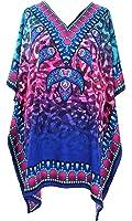 Mia Creations Tribal Print Short Kaftan Tunic Blouse Top Plus Size