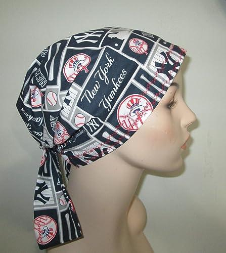 6b571a7b18d3b Amazon.com  Scrub Chemo Cap NY Yankees  Handmade