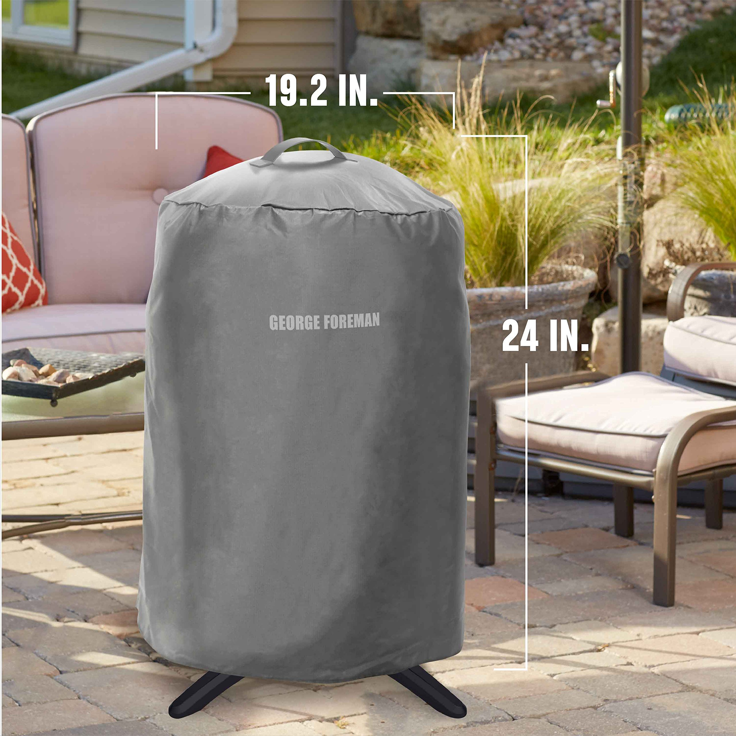 George Foreman GFA0240RDCG Round Grill Cover, Gray by George Foreman (Image #6)