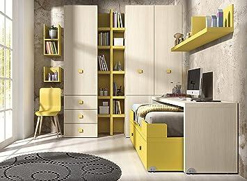 ambiato habitación de los Niños Vita 13 Cama Módulo con Extensibles Escritorio Sobre Ruedas, Muy