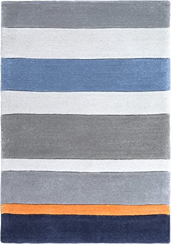 Surya Chic CHI-1040 Contemporary Hand Tufted 100 Poly-Acrylic Dark Periwinkle 2 x 3 For Kids Accent Rug