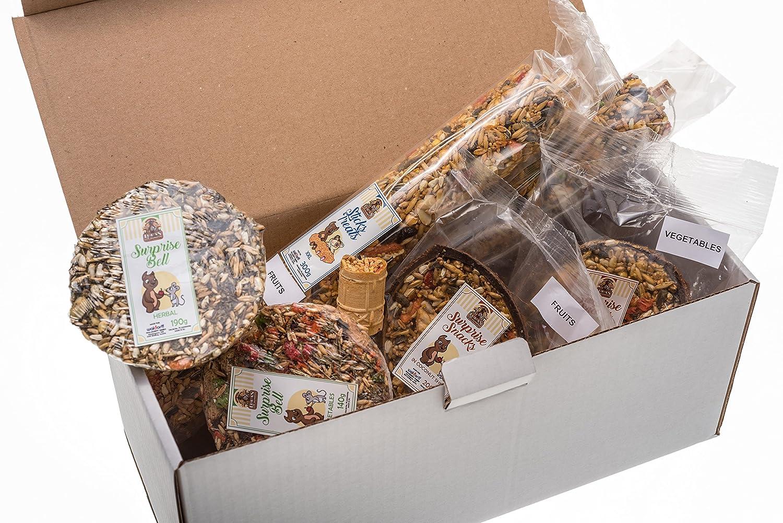 SURPRISE BOX XL - Conjunto de 7 más populares aperitivos y delicadeza para todos los Roedores y conejos. Más de 1500 gr alta calidad Nutrición. waldorff gmbh