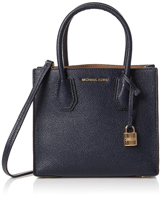 647a6b9a5c40 ... Bag DHsiO10R Michael Kors 30F6GM9M2L Womens Mercer Satchel Blue  (Admiral) Amazon.co.uk Shoes ...