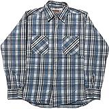 (カムコ) 長袖 ヘビーコットン ネルシャツ フランネル ブルー CAMCO FLANNEL SHIRTS 030