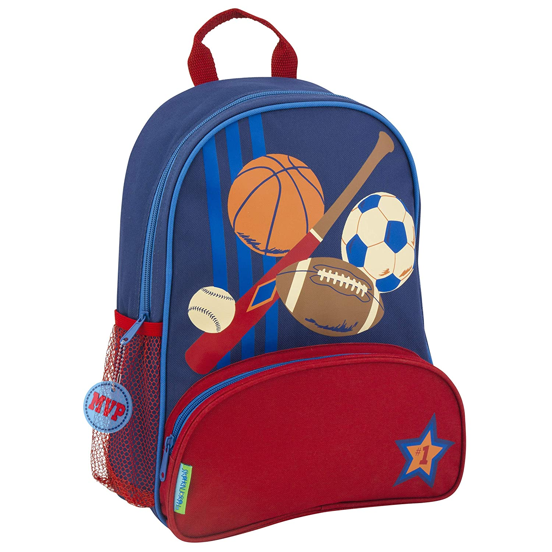 bluee Sports Stephen Joseph Girls' Little Sidekicks Backpack, Owl, Navy, Size