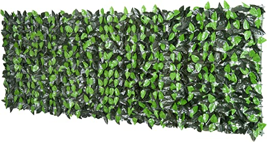 2 Rotoli 1.5x3 Siepe Sintetica Abete Finta Artificiale Recinzione Sempreverde