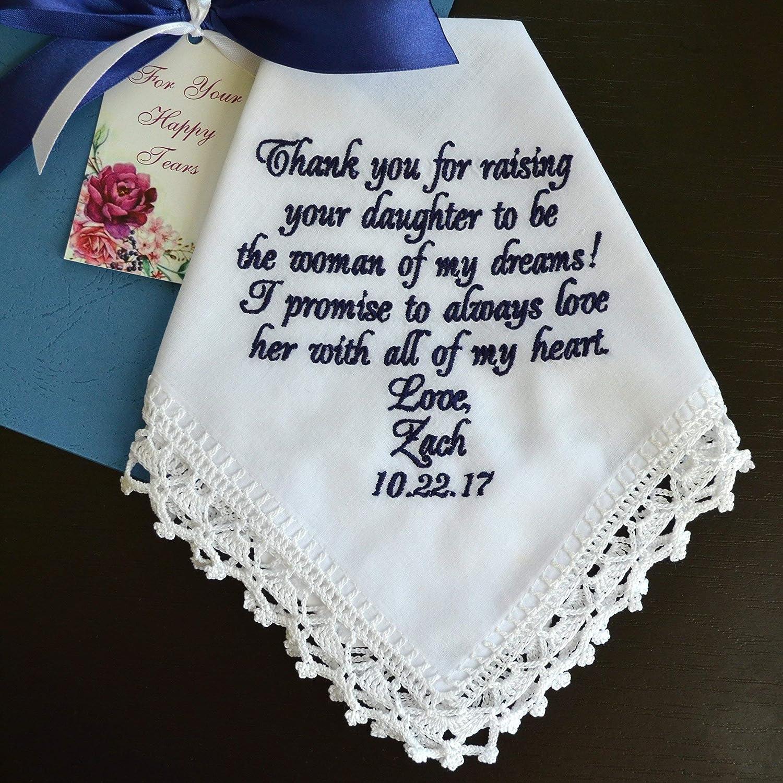 Amazon Com Handmade Wedding Handkerchief Wedding Gift For Mother