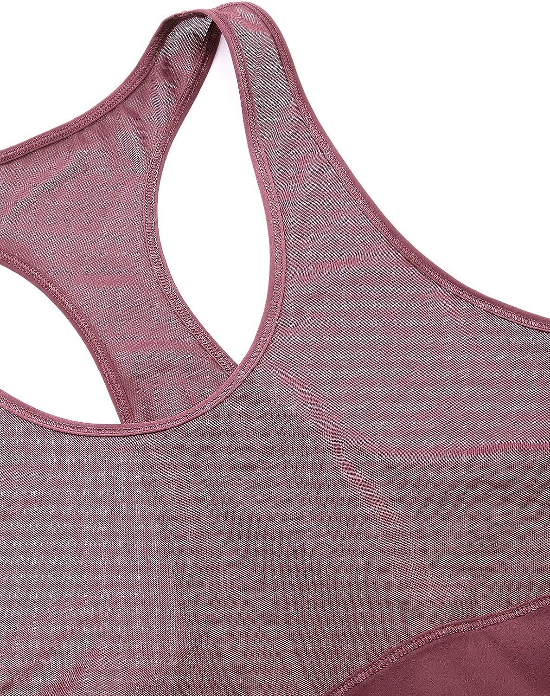 CRZ YOGA Damen Leichtgewicht Sport Yoga Tank Top Mesh Lauf Fitness /Ärmellos Kurzarm