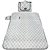 """Outdoor Picnic Blanket Mat, Waterproof Padding, 79"""" x 59"""" - Large, Foldable Play Mats For Kids, Babies, Families - Protective Outside Beach Blankets for Park, Camping, Yard, Lawn, Sand"""