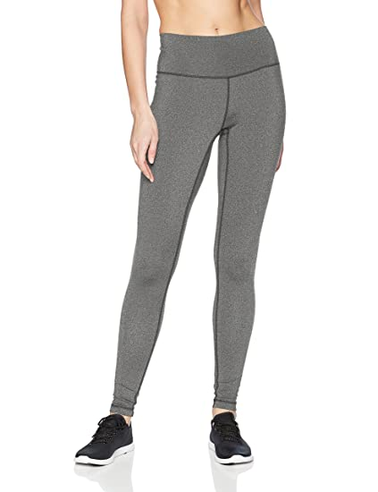 e1b66682a551a adidas Women's Believe This High Rise Tights, Dark Grey Heather, XX-Small