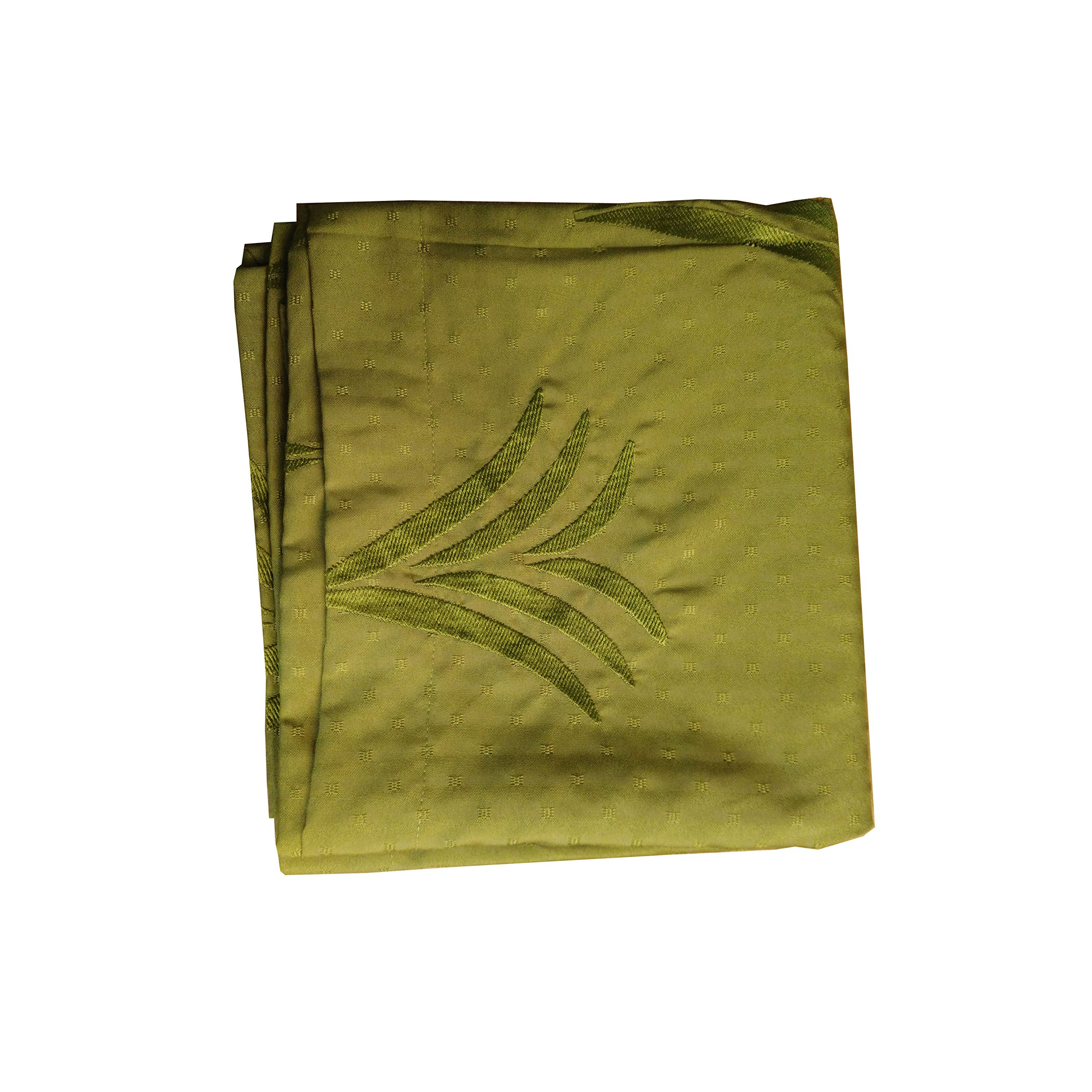 Tropical Embroidered Bed Scarf Green 80''X18''
