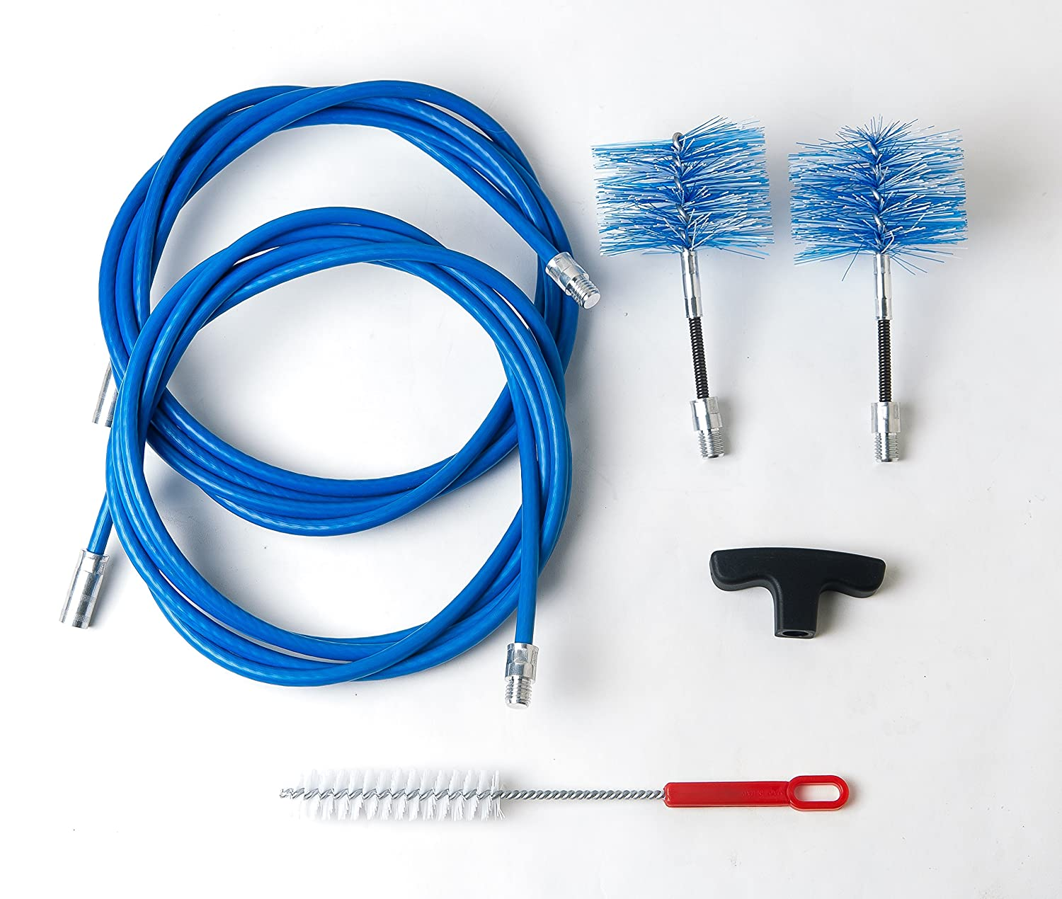 Cleaning kit for pellet stove - chimney sweeping kit - 6 metres - 2