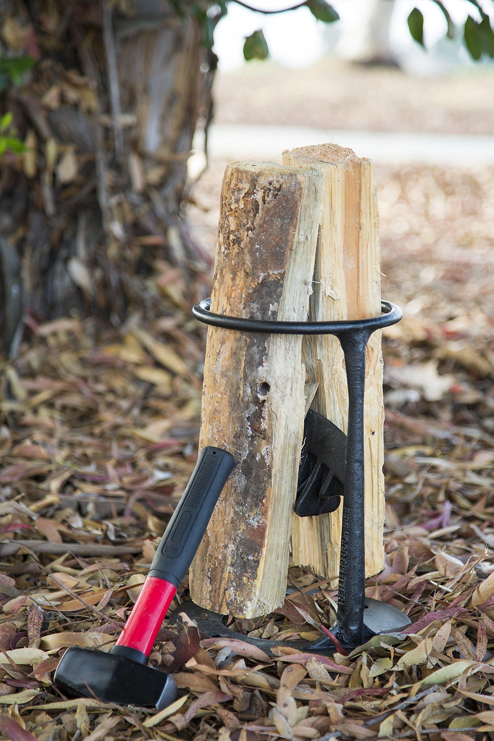 Inertia Wood Splitter - Cast Iron Manual Log Splitter - No Sharp Edges - No More Axes! by Inertia Gear (Image #3)