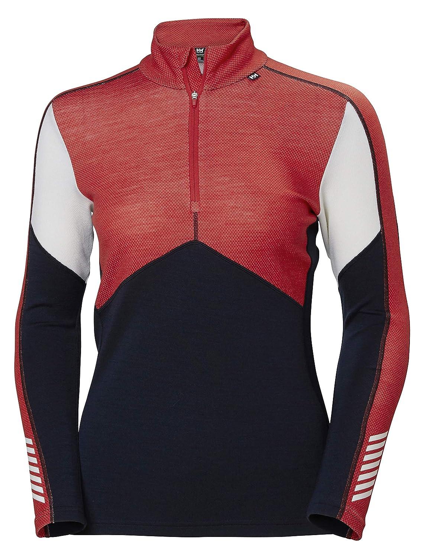 Helly Hansen Damen Lifa Merino 1/2 Zip Thermische Funktionsunterwäsche Langärmliges Sport-t-Shirt