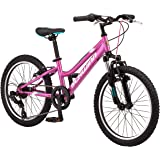 Schwinn High Timber Youth/Adult Mountain Bike, Aluminum and Steel Frame Options, 7-21 Speeds Options, 24-29-Inch Wheels…