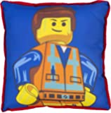 Lego Movie Emmett Coussin carré, Polyester, multicolore