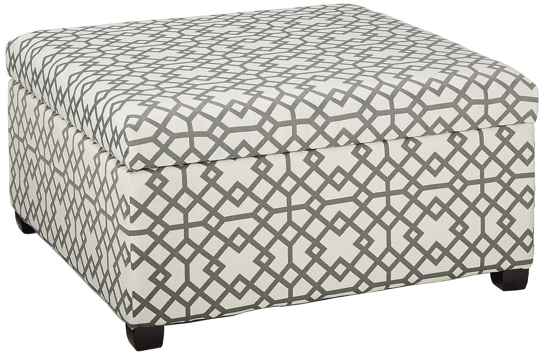 Stupendous Christopher Knight Home Living Estee Grey Geometric Patterned Fabric Storage Ottoman Spiritservingveterans Wood Chair Design Ideas Spiritservingveteransorg