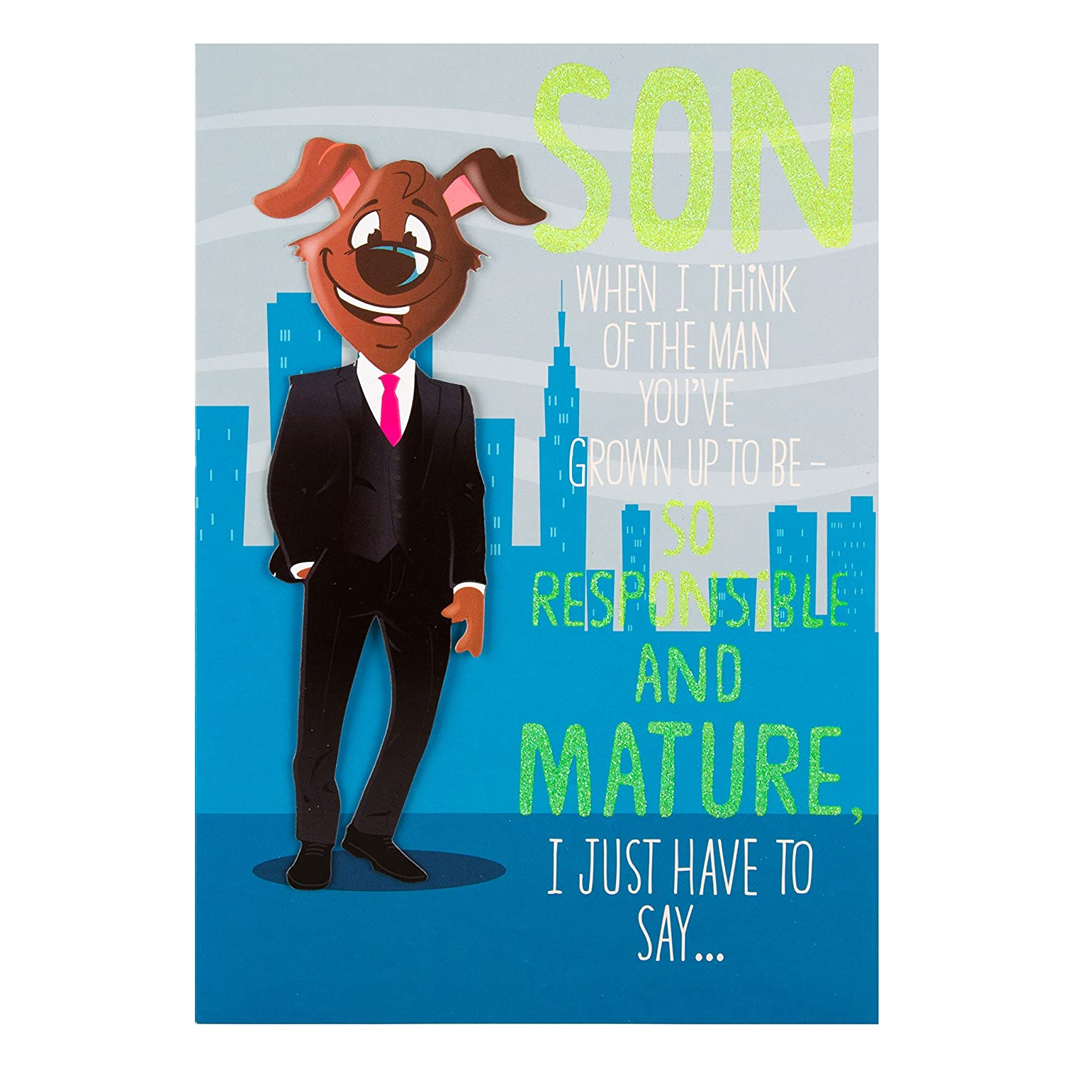 Hallmark Son Funny Birthday CardResponsible And Mature