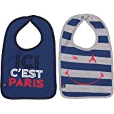 2 x bavoir PSG - Collection officielle Paris Saint Germain - Taille bébé garçon