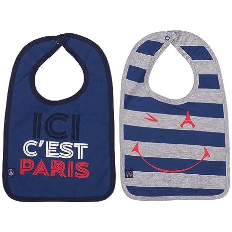 2 x bavoir PSG - Collection officielle Paris Saint Germain - Taille bébé  garçon 2591c608abb