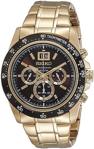 Seiko Reloj Cronógrafo para Hombre de Cuarzo con Correa en Acero Inoxidable SPC236P1: Amazon.es: Relojes