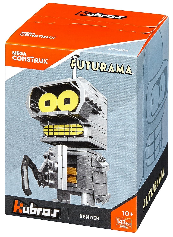 Amazon.com: Mega Construx Kubros Futurama Bender Building Kit: Toys ...
