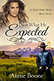 Not What He Expected: A Clean Mail Order Bride Historical Romance (Mail Order Brides Book 1)