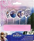 Generique - 4 Candeline Per Torta Frozen - Il Regno Di Ghiaccio