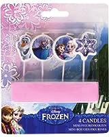 4 Bougies d'anniversaire La Reine des neiges - 9 cm
