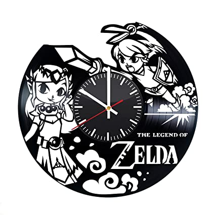 67cf2125eb The Legend of Zelda Vinyl Clock - Legend of Zelda Video Game Vinyl Records Wall  Art Room Decor Handmade Decoration Party Supplies Theme - Best Original ...