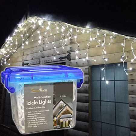 Snowtime 400 white led snowing icicle lights white amazon snowtime 400 white led snowing icicle lights white aloadofball Image collections