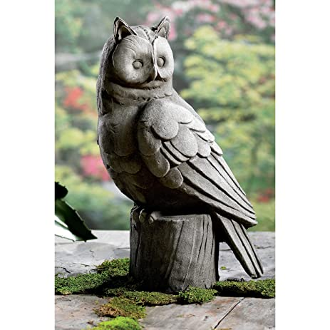 18u0026quot; Large Owl Garden Statue By KINDWER