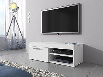 Tv schrank weiß hochglanz 120  TV-Element TV Schrank Ständer Mambo matt weiß 120 cm: Amazon.de ...