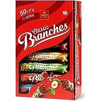 Frey Branches Classic, Riegel aus feiner Milchschokolade garniert mit Nusssplittern, 1350 g