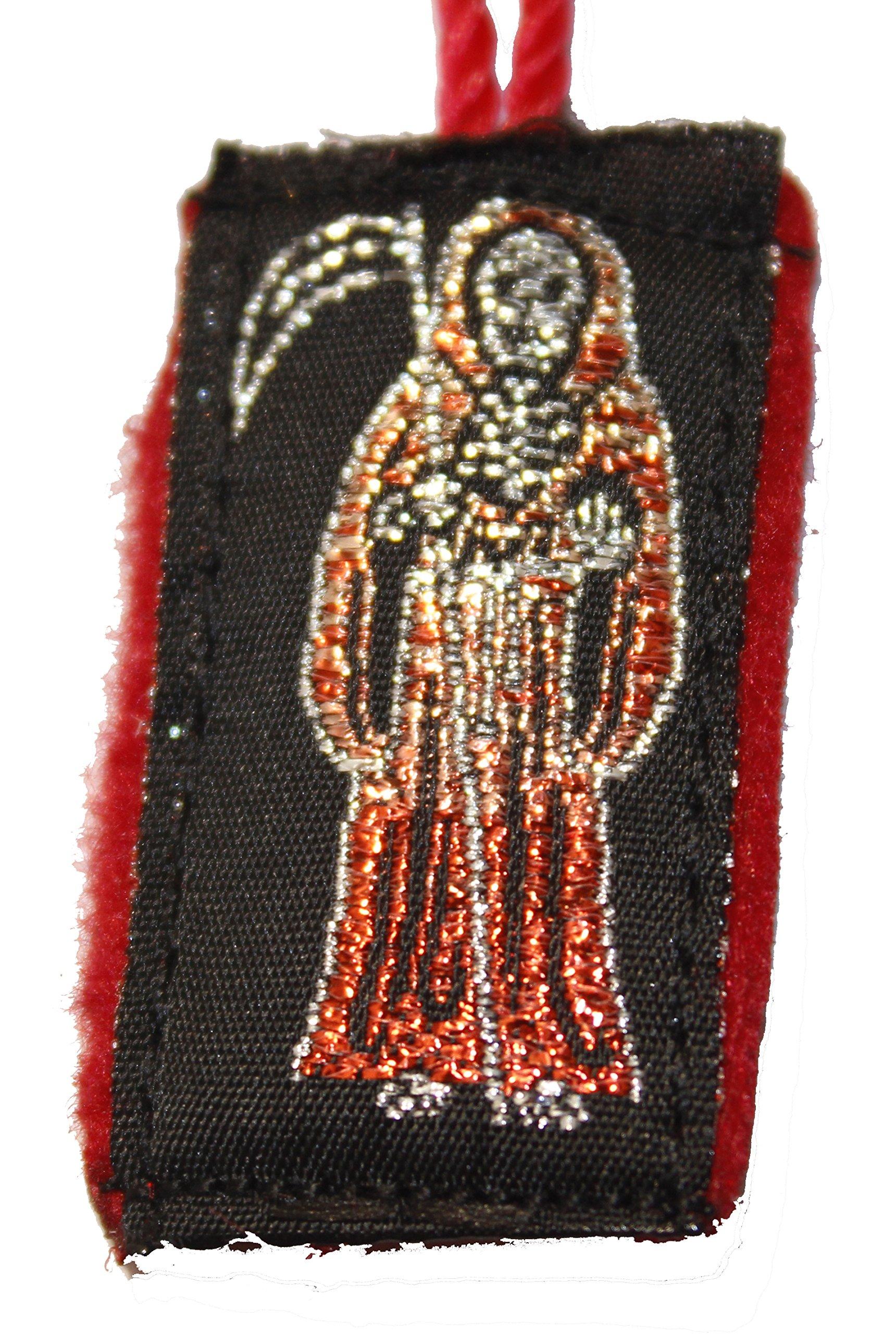 Holy Death Red Santa Muerte Escapulario de Hilo-Knotted Mexico Scapulary