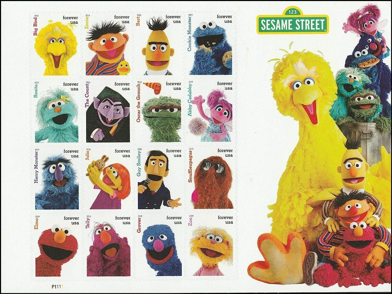 2019 Sesame Street Forever Postage Stamps - Sheet of 16