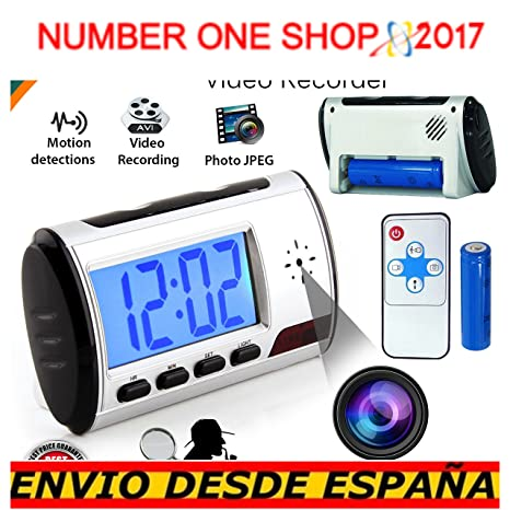 -Thenumberoneshop-Cámara espía Reloj Video Recorder Alarma ocultada Leva DVR