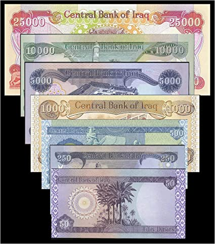 10,000 Iraq Dinar /& Receive A FREE 500 Dinar With Purchase Set of one each