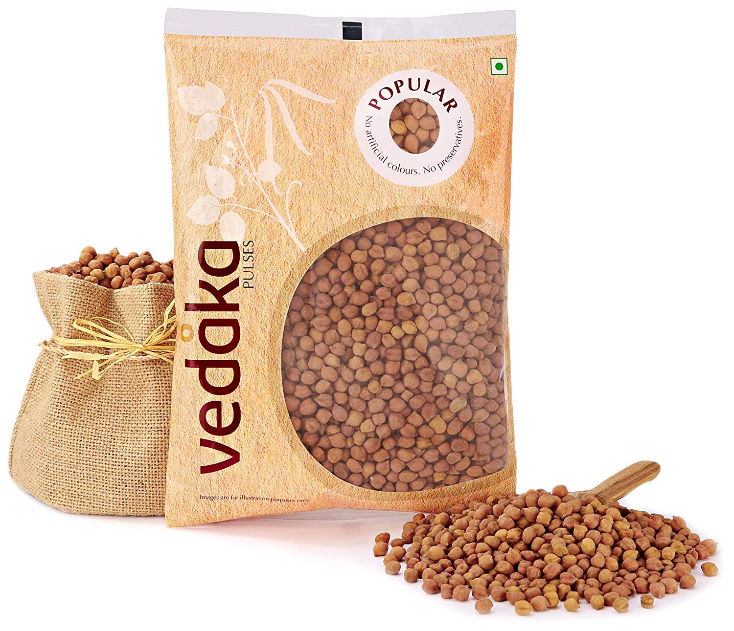 Vedaka Popular Black Chana, 1 kg