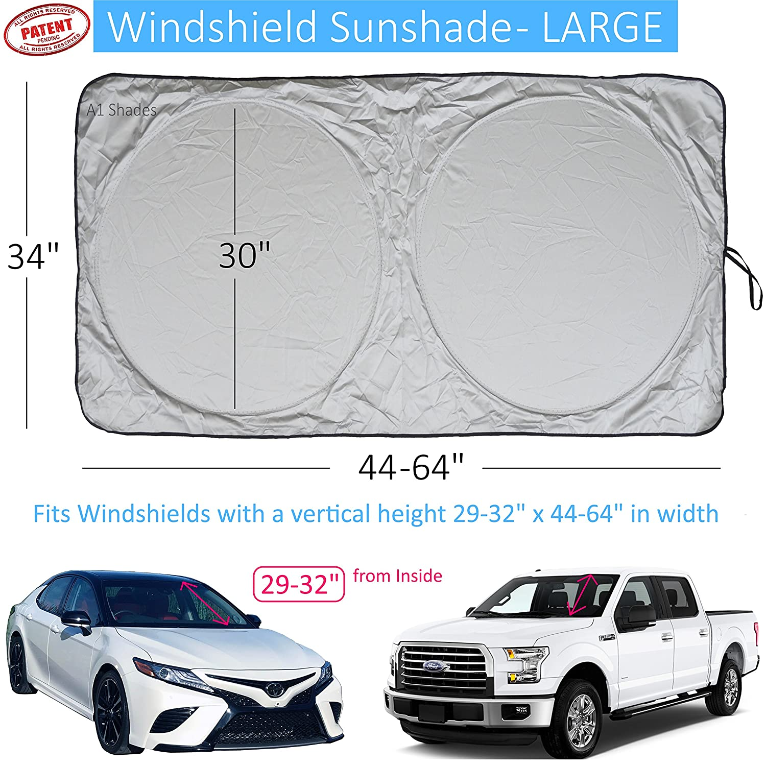 Windshield Sun Shade Suv Car Hassle Free Size Chart With Displaying 19gt Images For Johnny 5 Is Alive Your Vehicle Universal Quality 210t Keep Accessories Cool Uv And Heat