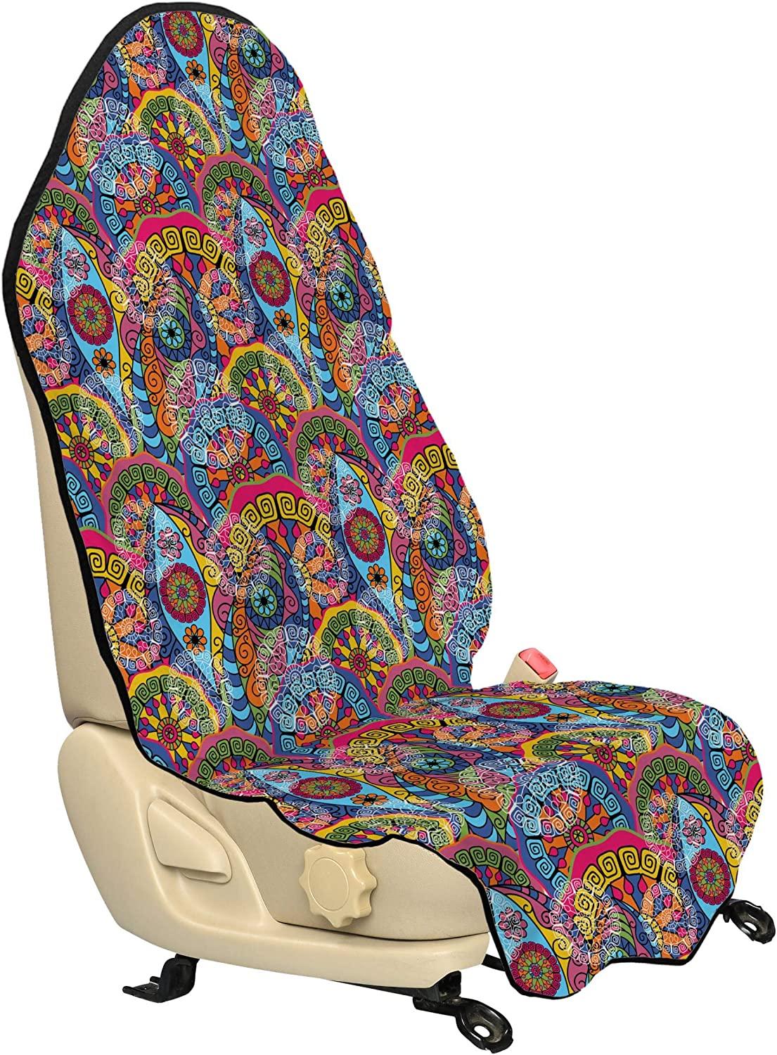 Amazon Com Ambesonne Floral Car Seat Hoodie Hippie Style